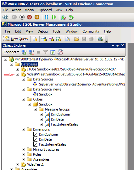SSAS DB published by PowerPivot for SharePoint