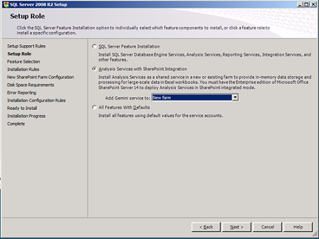 Analysi Services setup with PowerPivot integration