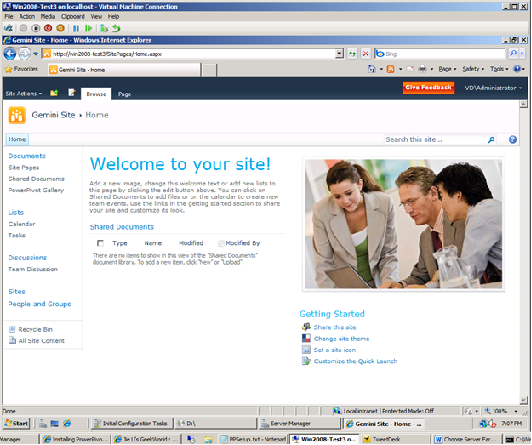 PowerPivot for SharePoint website